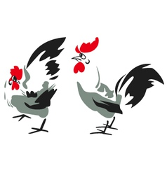 Rooster design vector