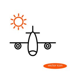 a simple image of an airplane carrying vector image vector image