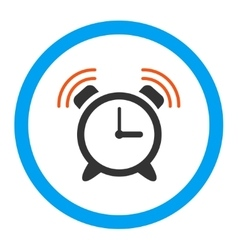 Alarm clock ring rounded icon vector