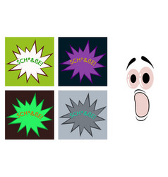 Assembly of flat icons on theme comic speech vector