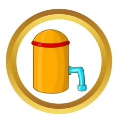 Barrel with tap icon vector
