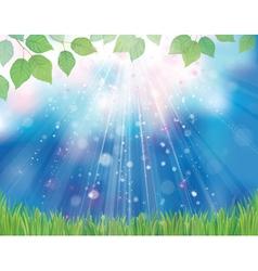 bluesky greengrass vector image vector image
