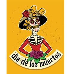 dia de los muertos skull vector image vector image