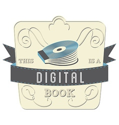Digital book vector