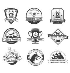 Dogs emblem set vector