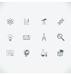Education and learning modern line icons vector image