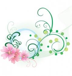 floral backdrop vector image vector image