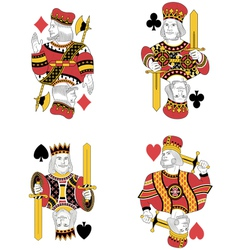 Four kings vector
