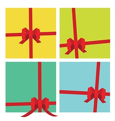 Gifts package ribbons vector image