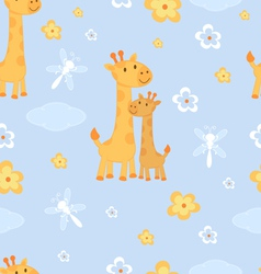 Giraffes seamless pattern vector image vector image