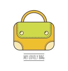 Hand bag isolated Color flat icon object vector image