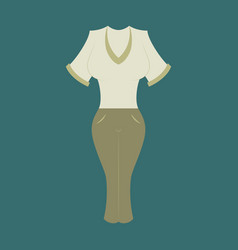 Icon in flat design fashion clothes women pants vector