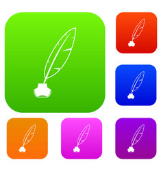ink with pen set collection vector image vector image