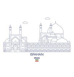 Isfahan city skyline vector