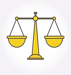 Justice balance libra icon symbol logo modern vector