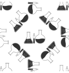 Laboratory glassware icon pattern vector