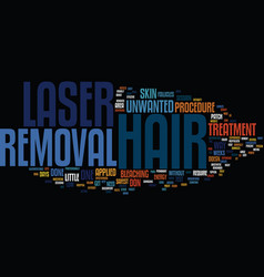 Laser hair removal versus electrolysis text vector