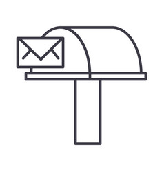 postboxemail delivery line icon sign vector image vector image