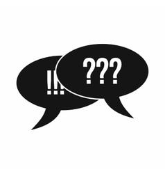 Question and exclamation icon simple style vector image