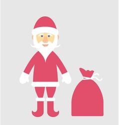 Santa Claus and gifts vector image