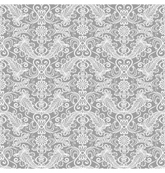 Seamless lace floral pattern vector image vector image