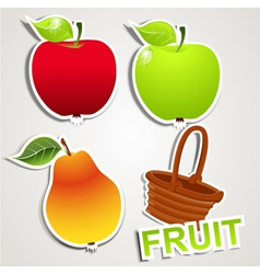 set of icons fruits vector image