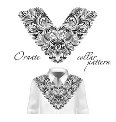 shirt jacket and t-shirt collar pattern vector image