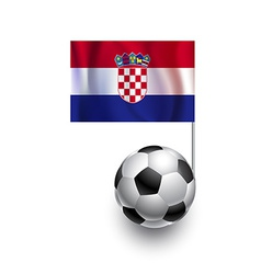 Soccer balls or footballs with flag of croatia vector