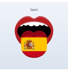 Spain language Abstract human tongue vector image vector image