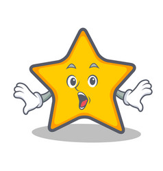 Surprised star character cartoon style vector