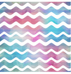 Watercolor waves seamless pattern vector