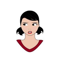 Women expression faces vector