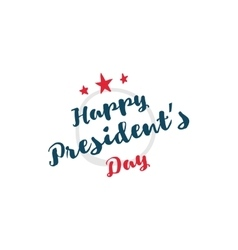 Presidents day typography vector