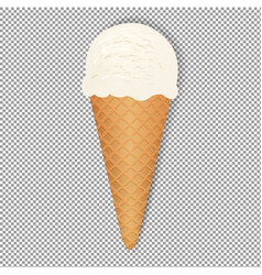 Ice cream with transparent background vector