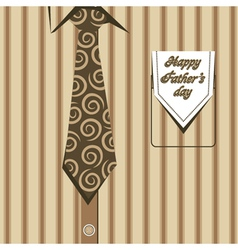 happy fathers day greeting background vector image