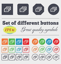 Mp3 music format sign icon musical symbol big set vector