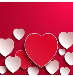 Valentines day abstract paper hearts vector