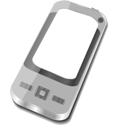smartphone on white background Iphone vector image