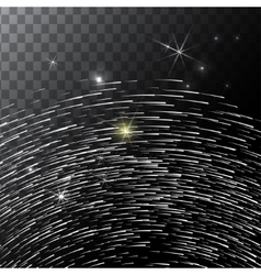 Abstract bright falling star - shooting with vector