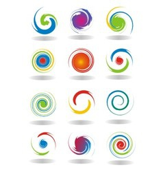 Abstract Circular Twist vector image vector image