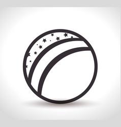 beach ball toy icon vector image