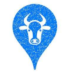 Cattle marker icon grunge watermark vector