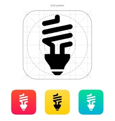 CFL bulb icon vector image vector image