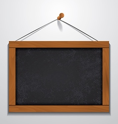 Chalkboard wood frame hanging on wall vector image vector image