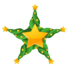 Christmas glossy star vector