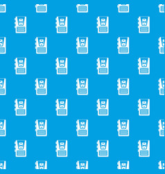 Dictaphone pattern seamless blue vector