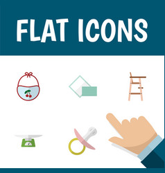 Flat icon child set of children scales child vector