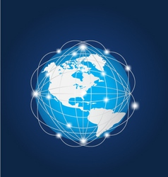 Global network america vector