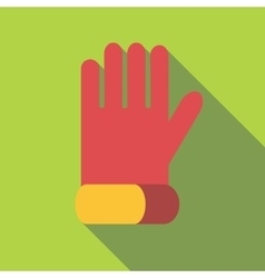 Glove for biker icon flat style vector