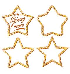 gold star set vintage shine lamp star vector image vector image